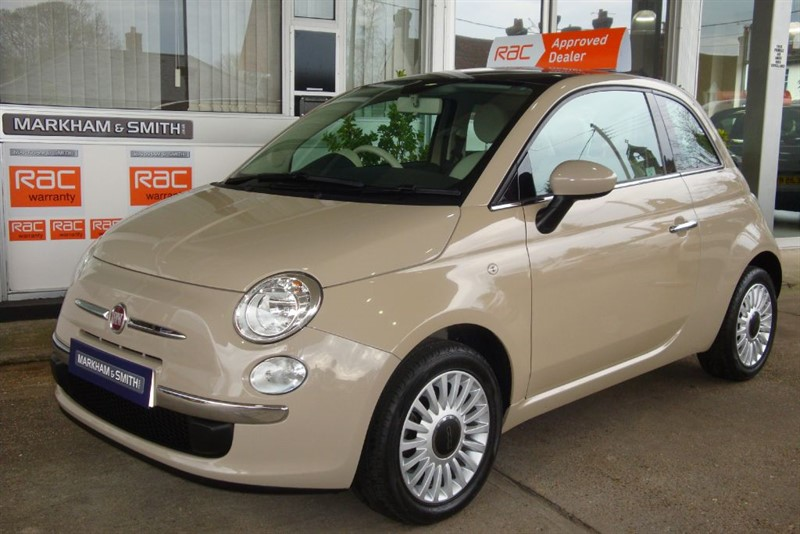 used Fiat 500 LOUNGE Finished in Beige Buff Full Fiat Service History 5 stamps 11,144  in witham-essex