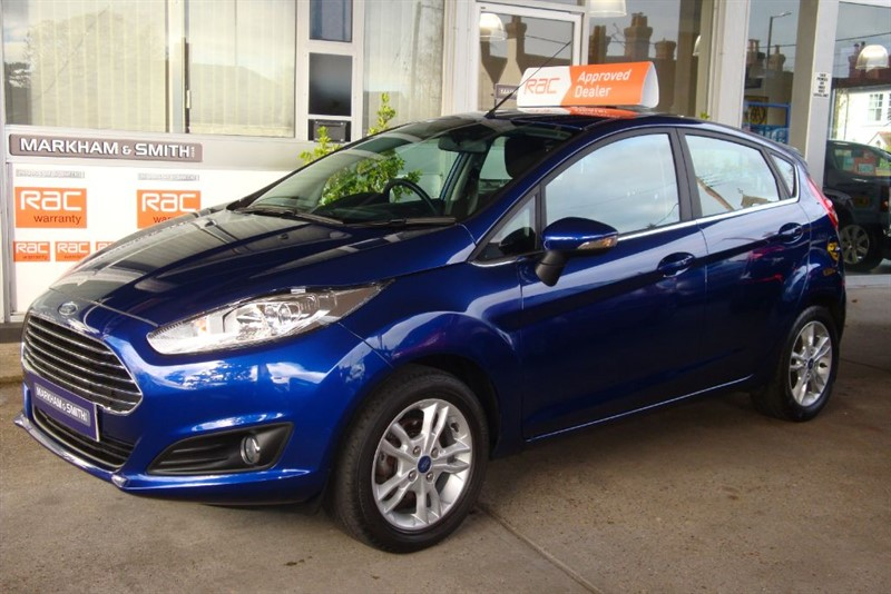 used Ford Fiesta ZETEC 1.25 5dr Finished in Deep Impact Blue ,One Lady Owner Full Ford S/H   in witham-essex