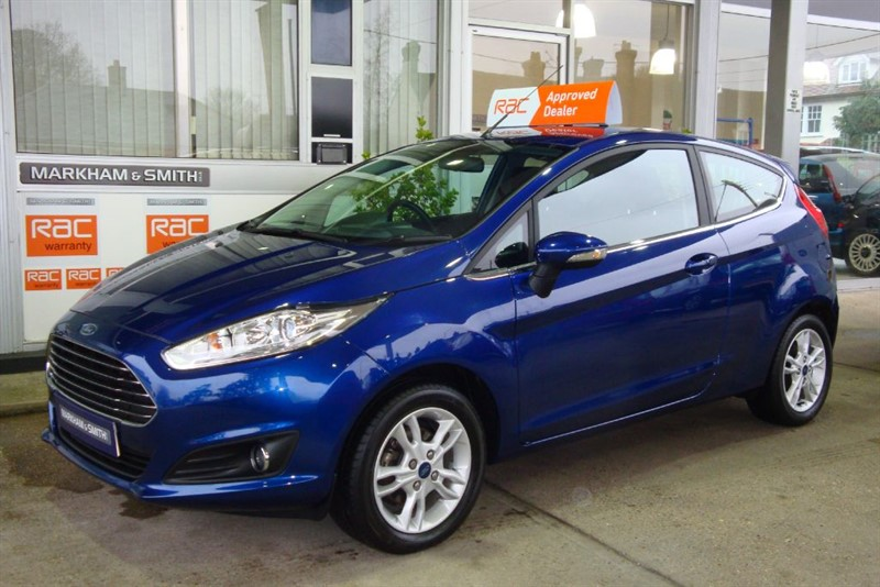 used Ford Fiesta ZETEC 3dr Deep Impact Blue  1 Owner  6,752  in witham-essex