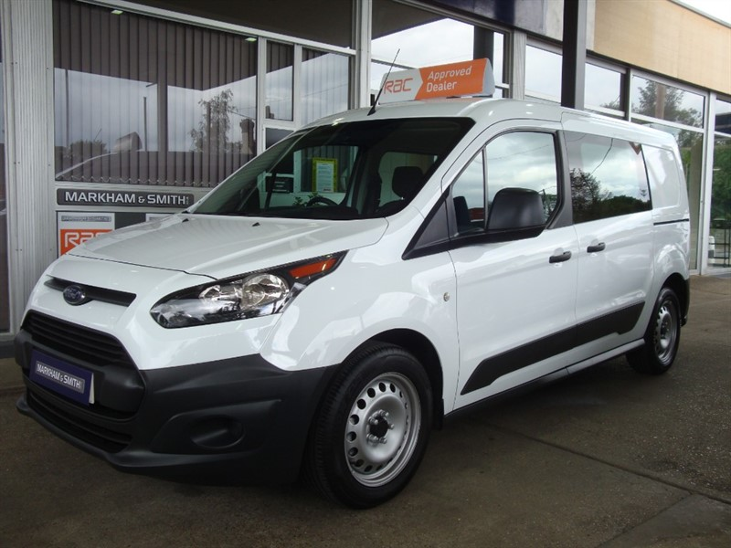 used Ford Transit Connect 230 DCIV 5 seater LWB Window Van + One Company Owner + 42,804 in witham-essex