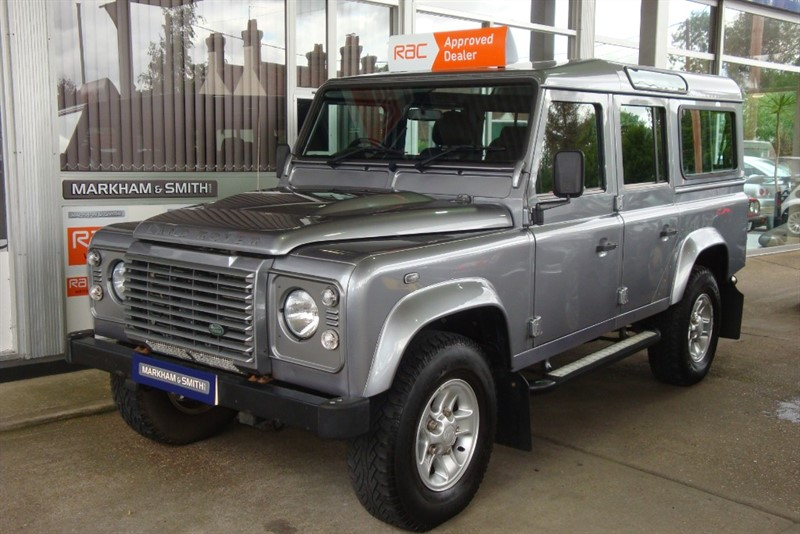 used Land Rover Defender TD XS STATION WAGON  D/C Heated Half Leather seats + 7 Seats  + FSH 4 stamps & Recent Service in witham-essex