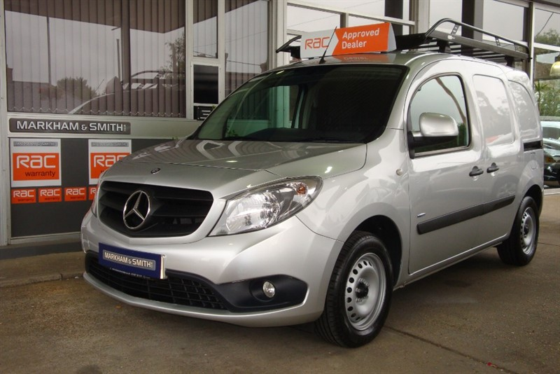 used Mercedes Citan 109 CDI BLUEEFFICIENCY  (LWB)  2 Owners + 46,698 + Silver + Just Serviced + Roof rack in witham-essex