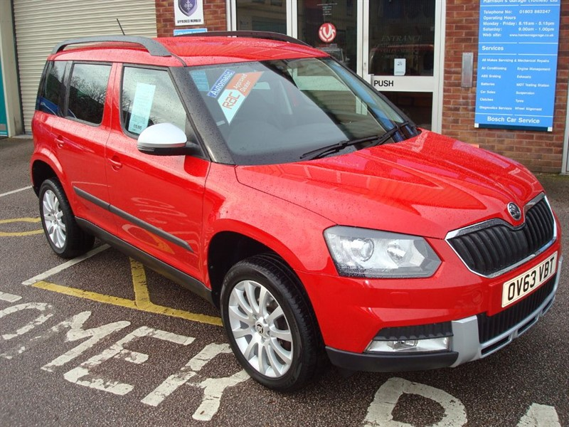 used Skoda Yeti OUTDOOR ELEGANCE TDI CR DSG in totnes-devon