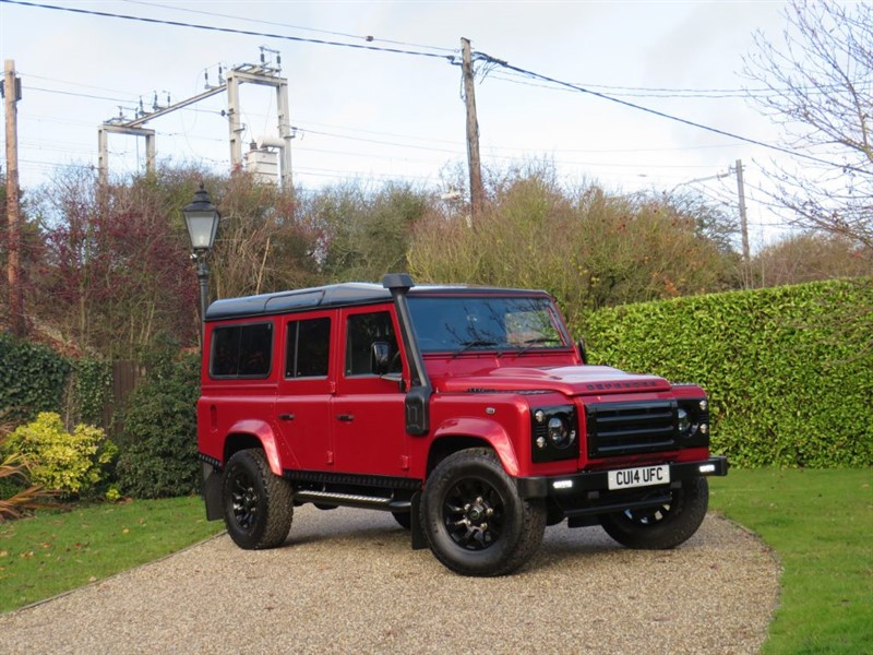 used Land Rover Defender 110 2.2 TDCI XS STATION WAGON! RARE FIRENZE RED! JUST 27K MILES! 1 OWNER! in chelmsford-essex