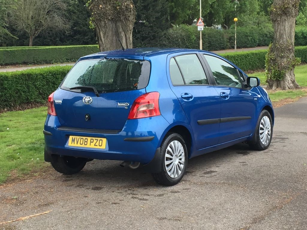 used blue toyota yaris for sale essex