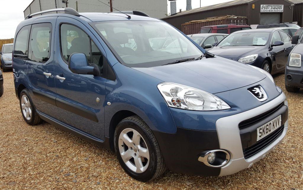 Used Blue Peugeot Partner Tepee For Sale Cambridgeshire