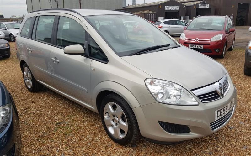 used Vauxhall Zafira EXCLUSIV in cambridgeshire