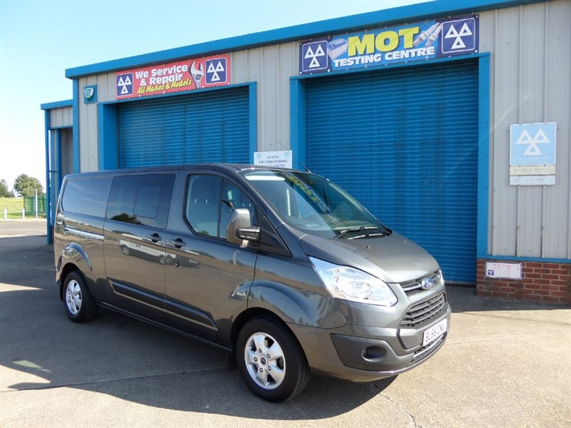 used Ford Transit Custom 310 LIMITED LWB 6 SEATER 130PS in lincolnshire