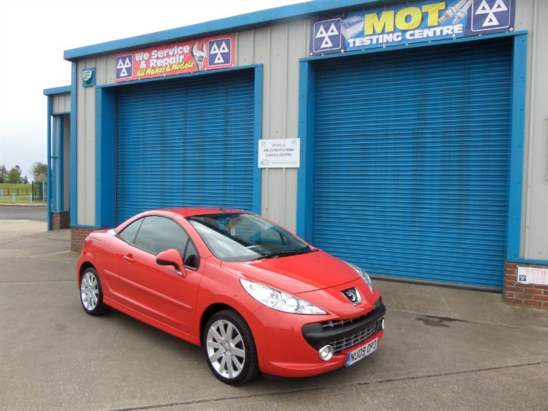 used Peugeot 207 1.6 GT COUPE CABRIOLET Leather in lincolnshire