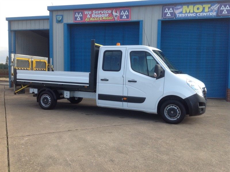 used Vauxhall Movano L3 125ps Crewcab 7 seat Dropside in lincolnshire