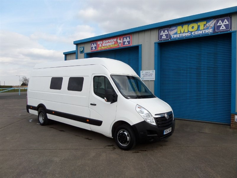 used Vauxhall Movano R4500 L4H3 CDTI  Ideal Motorhome/Racevan Conversion in lincolnshire