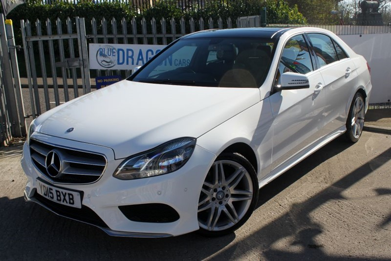 "used Mercedes E220 BLUETEC AMG LINE ""VAT Qualifying"" PAN ROOF AND 19""UPGRADED ALLOYS in essex"