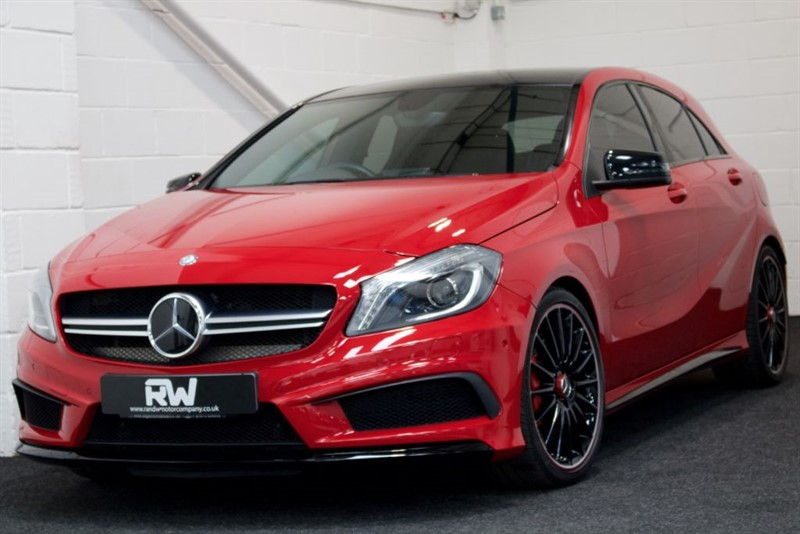 "used Mercedes A45 AMG A45 AMG 43K+FSH+SAT NAV+LEATHER+19"" ALLOYS in berkshire"