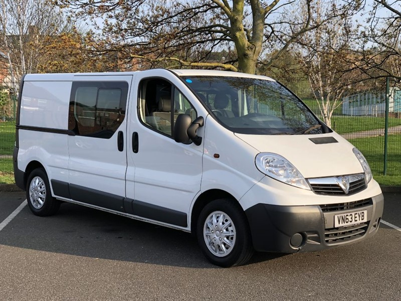 used Vauxhall Vivaro 2900 CDTI DOUBLE CAB + 6 SEATS + NO VAT in south-yorkshire