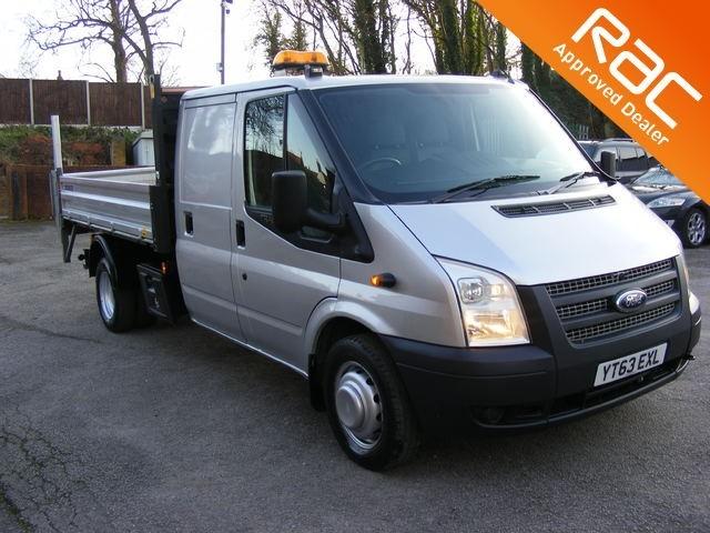used Ford Transit 2.2 TDCi 460 L 1-Way Double Cab Tipper RWD 4dr (EU5, LWB) in nottinghamshire