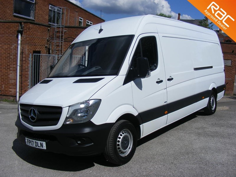 used Mercedes Sprinter 2.1 CDI 314 Extra High Roof Panel Van 5dr (EU6, XLWB) in nottinghamshire