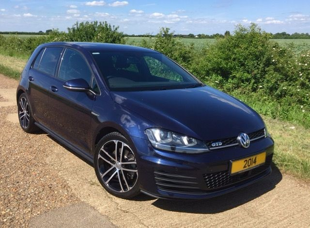 used night blue metallic vw golf for sale cambridgeshire