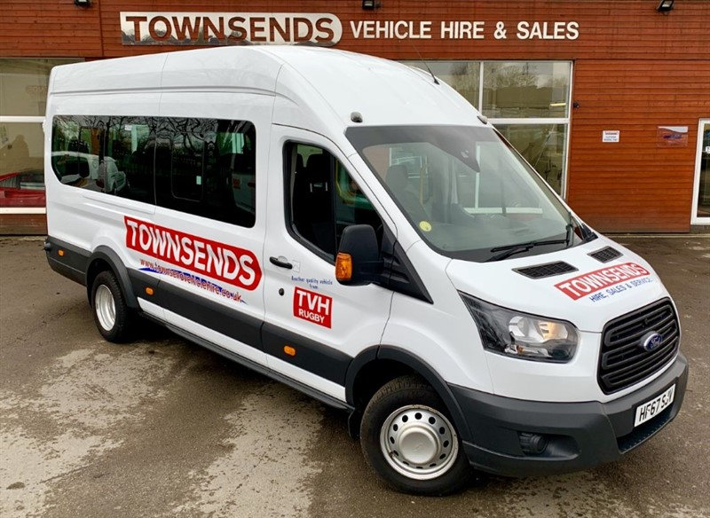 used Ford Transit 17 Seater Minibus L4 H3 2.2 TDCi 125 **EURO 6** in rugby-warwickshire