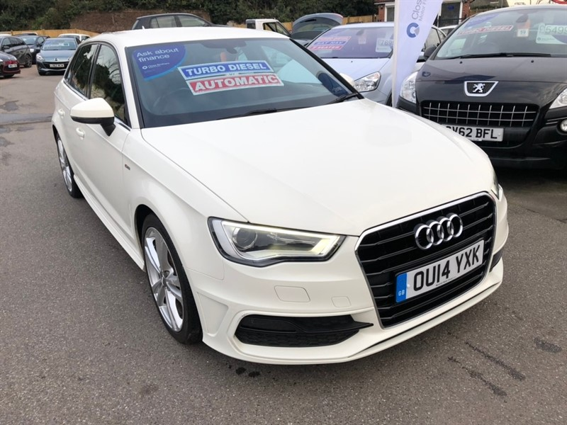 used Audi A3 TDI S line Sportback Tronic 5dr in rochester-kent
