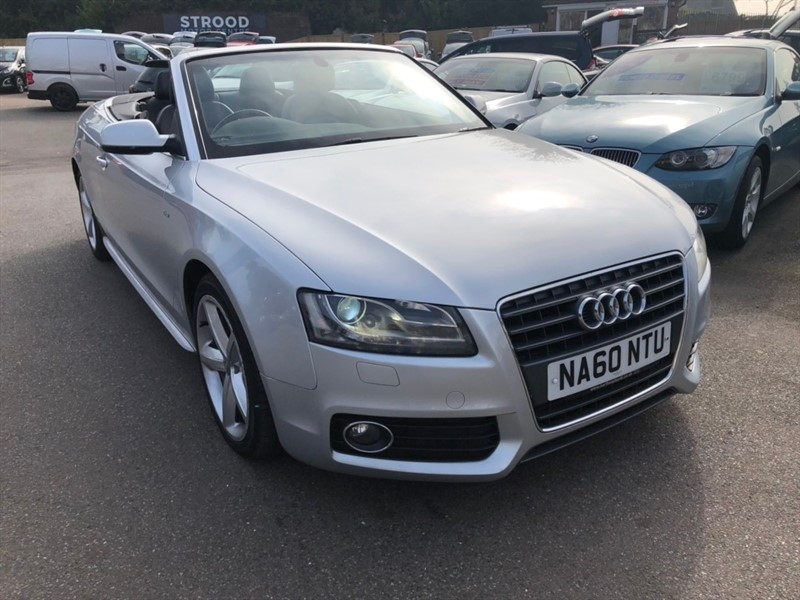 used Audi A5 Cabriolet TDI S line 2dr in rochester-kent