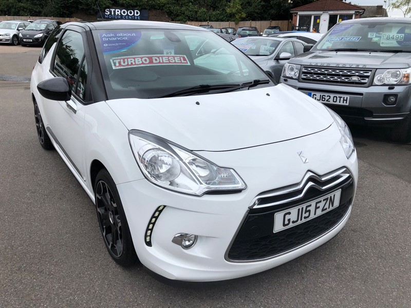 used Citroen DS3 BlueHDi DSire Blue in rochester-kent