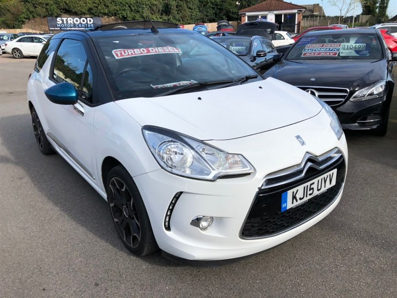 used DS 3 Cabrio BlueHDi DStyle Cabriolet (s/s) in rochester-kent