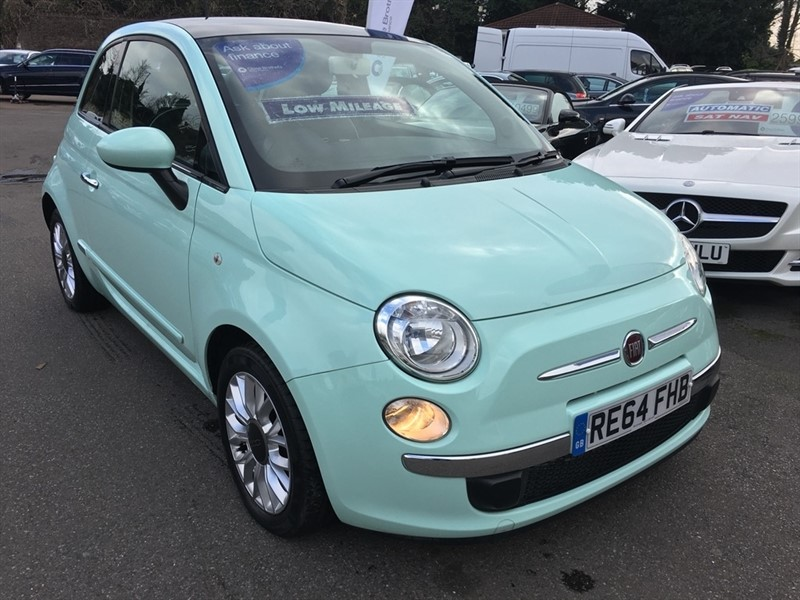 used Fiat 500 1.2 Lounge 3dr (start/stop) in rochester-kent