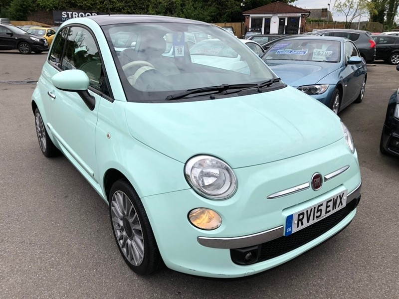 used Fiat 500 1.2 Lounge (s/s) 3dr in rochester-kent