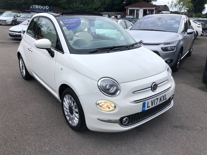 used Fiat 500C 1.2 8V ECO Lounge (s/s) in rochester-kent