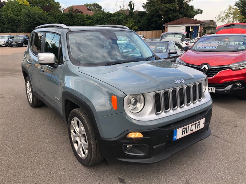 used Jeep Renegade 1.4T MultiAirII Limited Auto 4WD (s/s) in rochester-kent