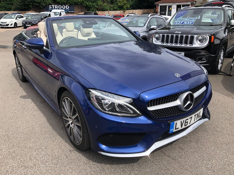 used Mercedes C220 AMG Line (Premium Plus) Cabriolet G-Tronic+ 4MATIC (s/s) in rochester-kent