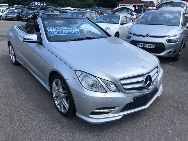 used Mercedes E220 CDI BlueEFFICIENCY Sport Cabriolet G-Tronic in rochester-kent