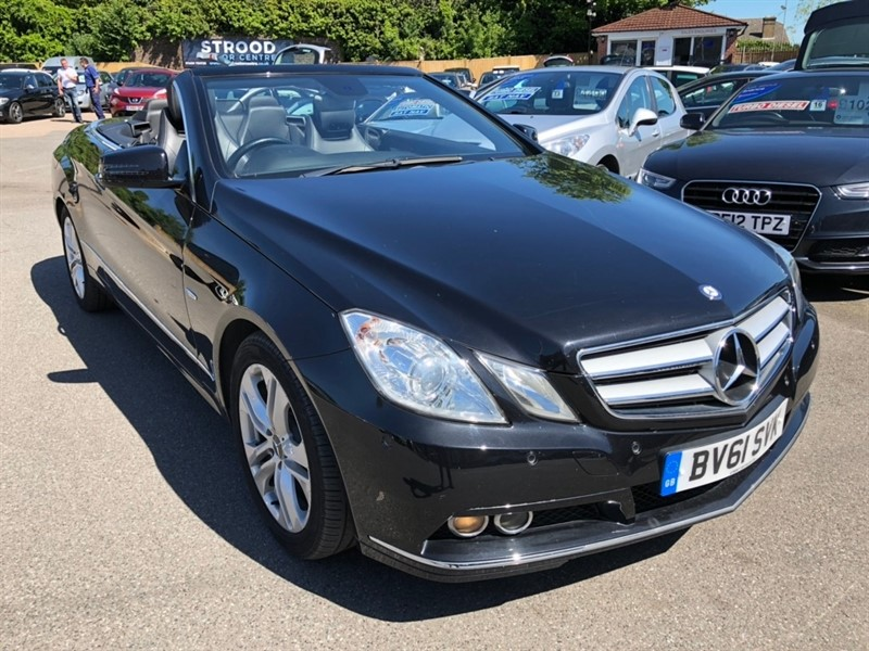used Mercedes E220 E Class CDI BlueEFFICIENCY SE Edition 125 Cabriolet 7G-Tronic Plus (s/s) 2dr in rochester-kent