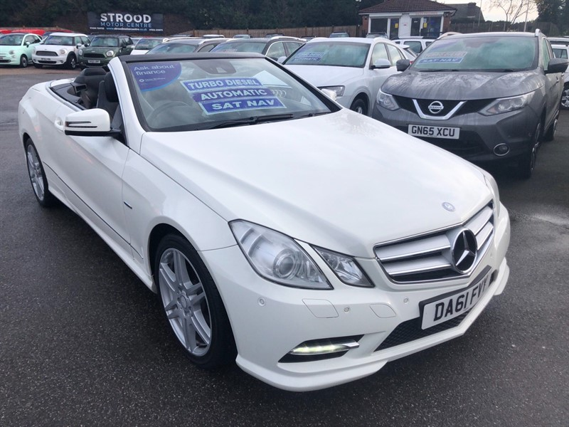 used Mercedes E220 CDI BlueEFFICIENCY Sport Edition 125 Cabriolet 7G-Tronic Plus (s/s) in rochester-kent