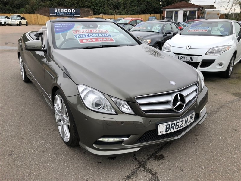 used Mercedes E350 E Class CDI BlueEFFICIENCY Sport Cabriolet G-Tronic 2dr in rochester-kent