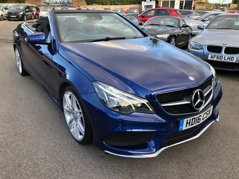 used Mercedes E350 AMG Line (Premium) Cabriolet 9G-Tronic (s/s) in rochester-kent