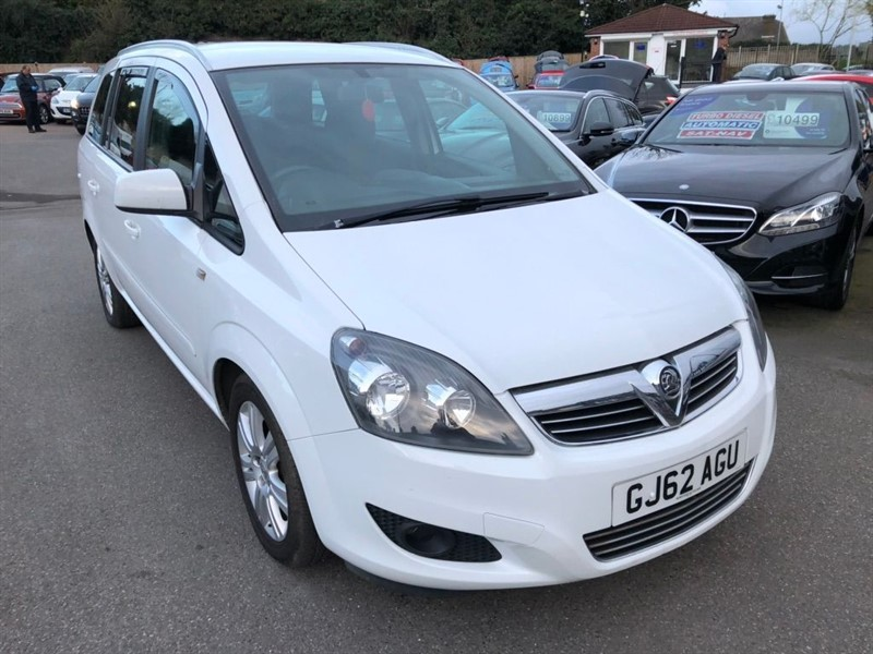used Vauxhall Zafira Excite in rochester-kent
