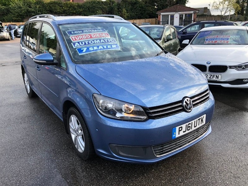used VW Touran TDI SE DSG 5dr (7 Seats) in rochester-kent