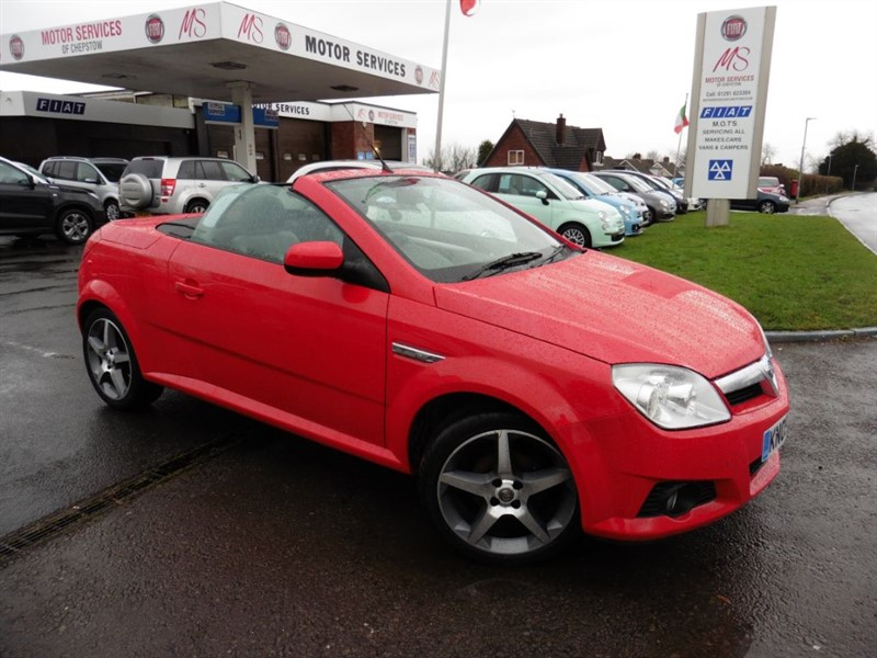 used Vauxhall Tigra EXCLUSIV 16V RED in chepstow-wyvern