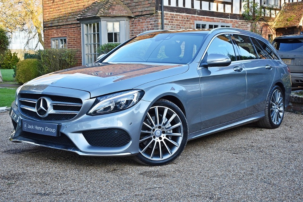used Mercedes C220 BLUETEC AMG LINE PREMIUM PLUS in in-kent