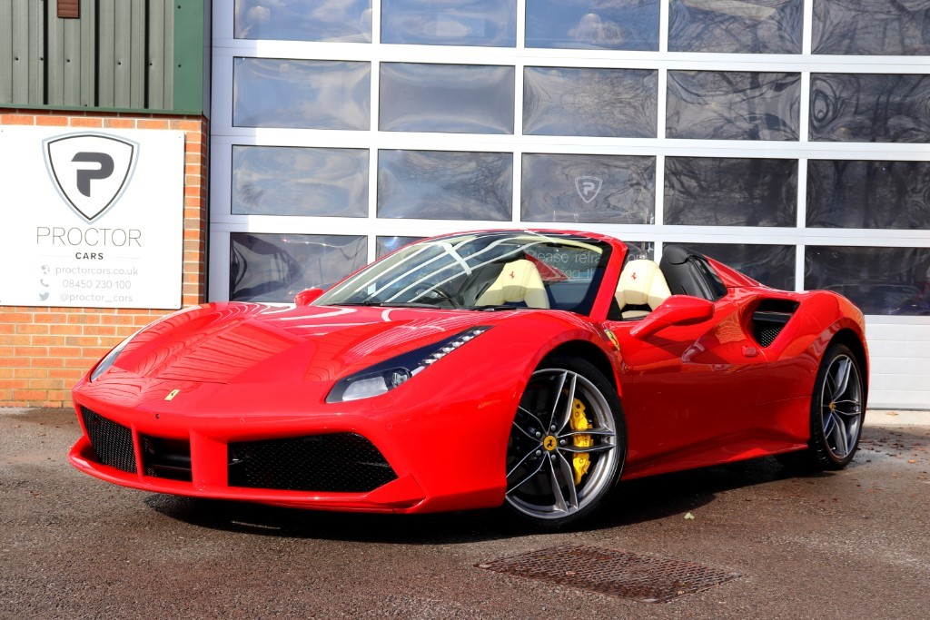 all Ferrari 488 3.9T V8 Spider F1 DCT (s/s) 2dr in wessington-derbyshire