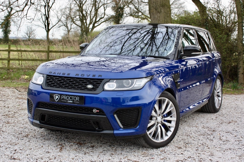 all Land Rover Range Rover Sport 5.0 V8 Supercharged SVR 4X4 (s/s) 5dr in wessington-derbyshire