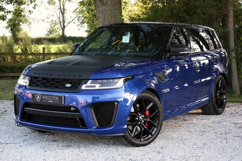 all Land Rover Range Rover Sport 5.0 V8 SVR Auto 4WD (s/s) 5dr in wessington-derbyshire