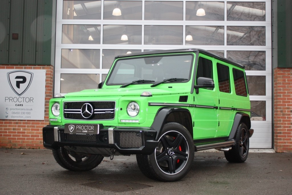 all Mercedes  G Class 5.5 G63 AMG Colour Edition Speedshift Plus 7G-Tronic 4x4 5dr in wessington-derbyshire