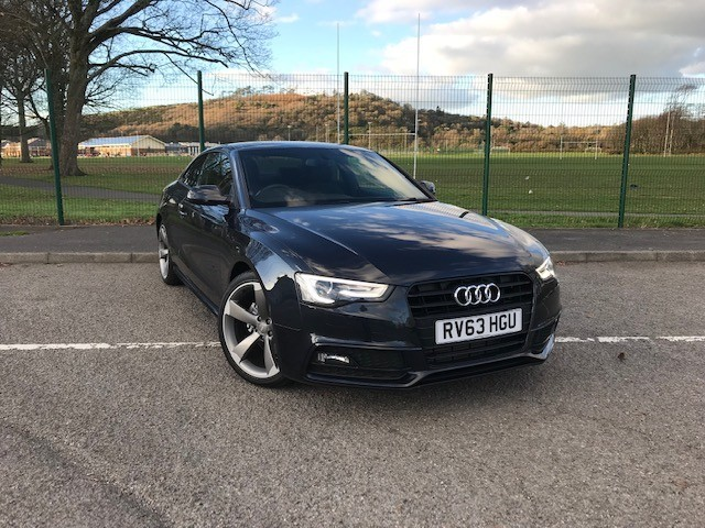 used Audi A5 TDI S LINE BLACK EDITION in llanelli-south-wales