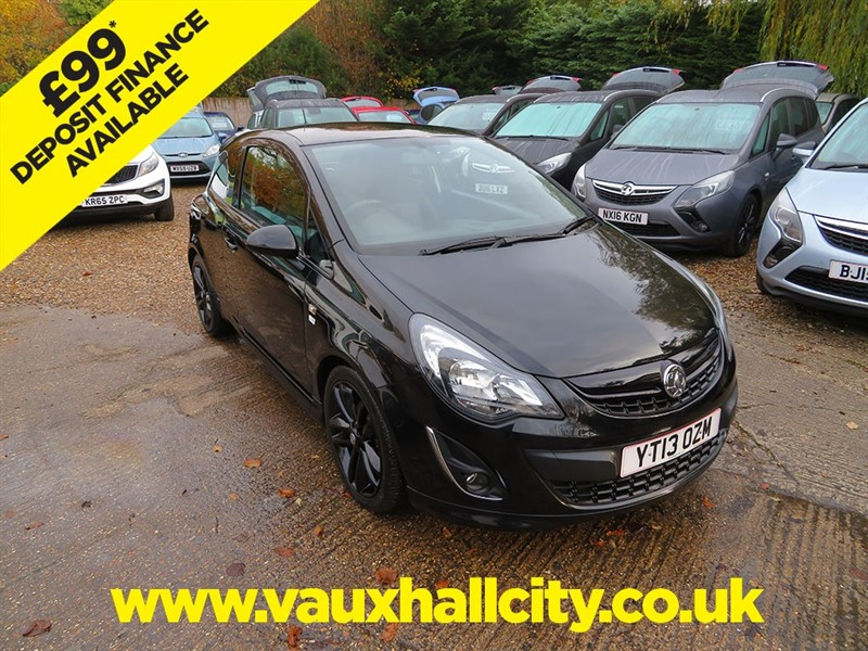 used Vauxhall Corsa BLACK EDITION TURBO in windlesham-surrey