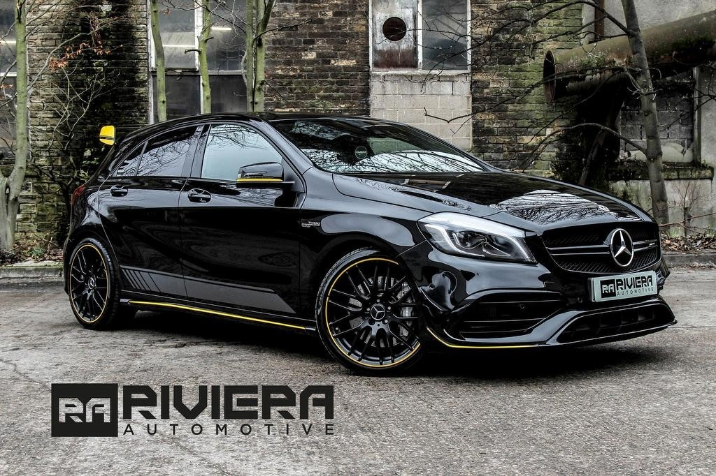 used Mercedes A45 AMG A Class Yellow Night Edition Speedshift DCT 4MATIC (s/s) 5dr in west-yorkshire
