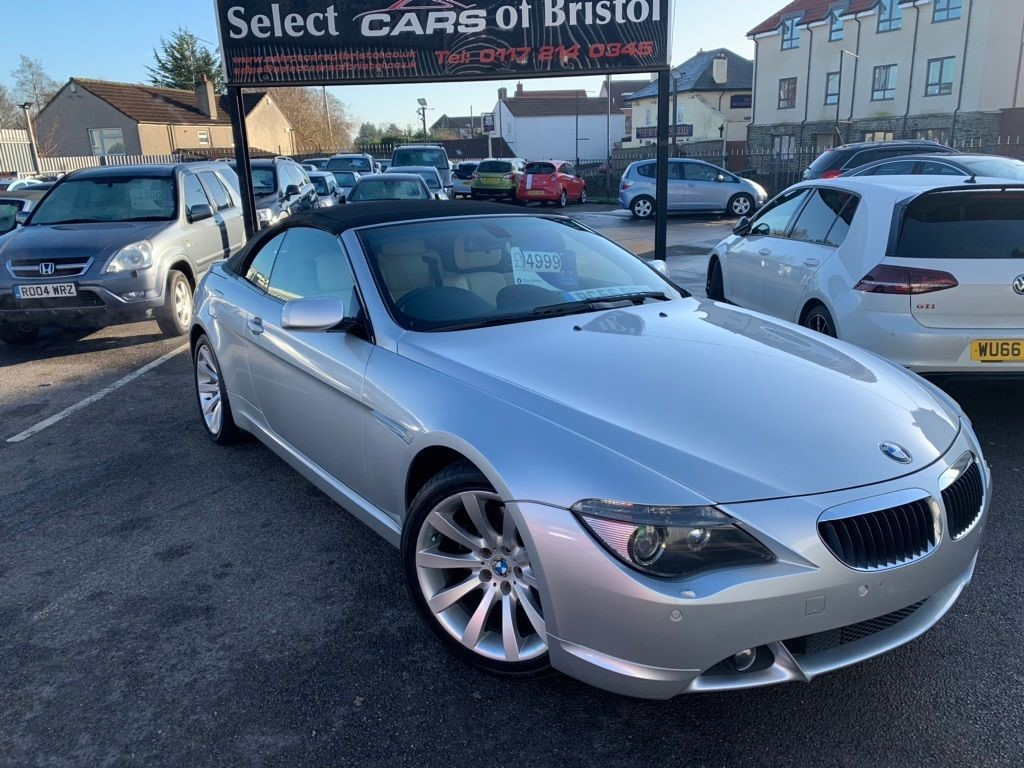 used BMW 630i 6 Series Sport Convertible 2dr Automatic (238 g/km, 258 bhp)