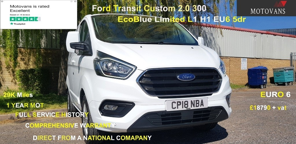 used Ford Transit Custom 300 LIMITED P/V L1 H1 in middlesex