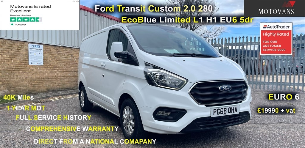 used Ford Transit Custom 280 LIMITED P/V L1 H1 in middlesex